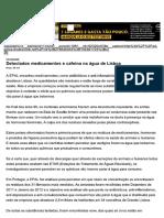 Detectados Medicamentos e Cafeína Na Água de Lisboa