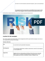 Managing Risk _ Lab Manager