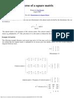 Inverse of a Square Matrix