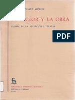 Acosta Gómez, Luis A. El lector y la obra. Teoría de la recepción, Madrid, Gredos, 1989