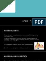 Lecture17 GUI