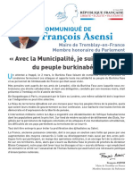 Lettre Burkina