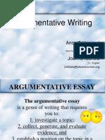 Argument Essay PowerPoint Great