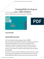 Oracle DBA Training With Live Projects & Certification - FREE DEMO!!!