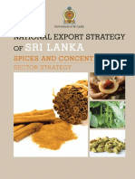 Spices and Concentrates Strategy - National Export Strategy (2018-2022)