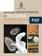 Processed Food and Beverages Sector Strategy -  National Export Strategy (2018-2022)