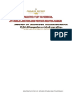 Comparative Study on Services of Public Sector and Private Sector Banks