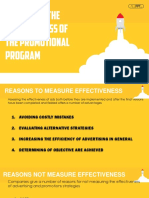 Measuring Effectiveness of the Promotional Program