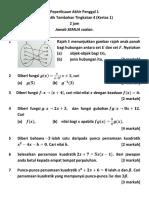Ujian Matematik Tambahan Tingkatn 4 Penggal 1 Kertas 1
