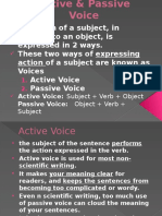 Active & Passive Voice Slide