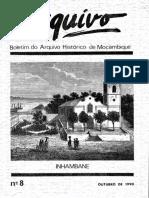 Boletim do Arquivo Histórico de Moçambique Nº8 - Outubro de 1990