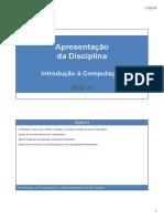 IaC 000 - ApresentacaoDaDisciplina 20142