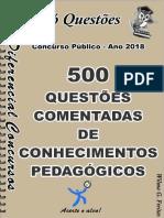 1758_CONHECIMENTOS PEDAGÓGICOS- 500 Questões Comentadas -Amostra