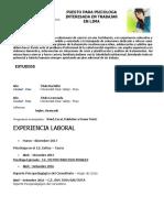 Curriculum Psicologa