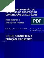 Gestão Do Processo de Projetos Na Construção de Edifícios