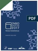 Notas Estatisticas Censo Escolar 2017
