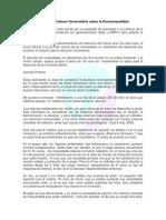Carta a Un Profesor Universitario Sobre La Homosexualidad