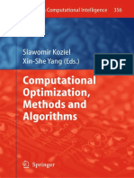 She Yang Computational Optimization Methods and Algorithms spanish Edition