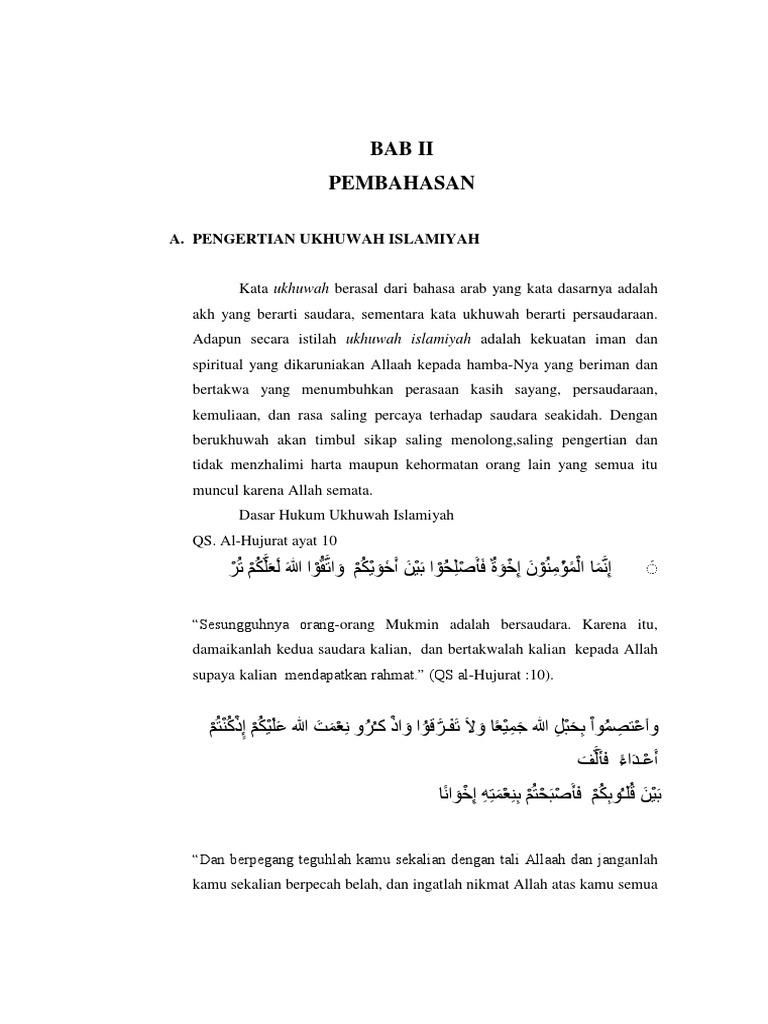 Doc Ukhuwah Islamiyah Makalah Laode Rio Academia Edu
