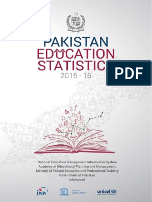 Pakistan Education Statistics 2015-16 | Pakistan | Federally