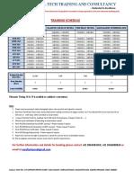 1516267680 Training Schedules 2018