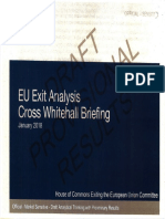 EU Exit Analysis Cross Whitehall Briefing