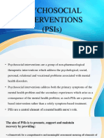 Psychosocial Interventions