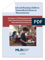 MLRI School Meal Debt Report March 2018