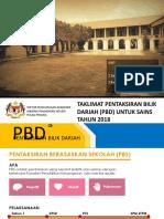 Taklimat Pbd Untuk Sains 2018