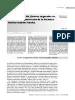 Artículo; Vulnerabilidad de Jóvenes Migrantes en El Cruce Indocumentado de La Frontera México-Estados Unidos