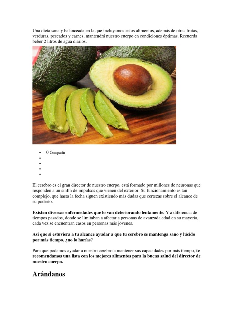 Lista de alimentos para una dieta sana
