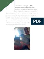 Reporte Conferencia de Inducción Periodo 2018A