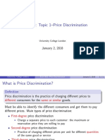 Topic1 Price Discrinimation
