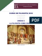 Curso de Filosofía 2016 u2 La Filosofía Como Ciencia