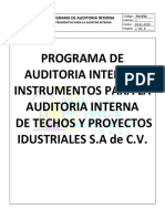 Programa de Auditoria Interna