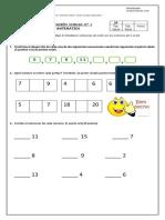 Evaluacion Unidad 1 Matematica