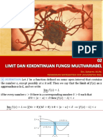 Limit Dan Kekontinuan Fungsi Multivariabel