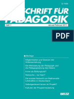 Zeitschrift Fuer Paedagogik 2011 1