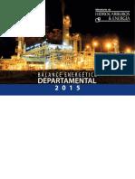 Balance Energetico Departamental 2015