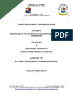 """Diagnostico de Los Consejo Territoriales Planeacion  """"CTP""""  de Sucre"""