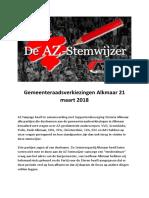 AZ Stemwijzer 2018