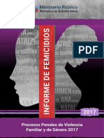 Informe de Femicidios y Procesos Penales de Violencia Familiar y de Género. Año 2017
