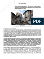 2. Desastre e Incidencias