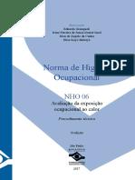 NHO-06 - Avaliação de exposição a Calor