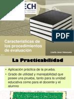 Características de Los Procedimientos de Evaluación