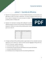 Esercitazione 1 - Scarsità Ed Efficienza