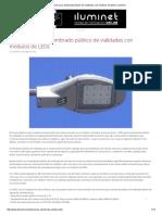 Luminarios Para Alumbrado Público de Vialidades Con Módulos de LEDs _ _ Iluminet