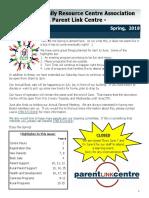 CFRC-PLC Spring Newsletter