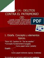 TEMA 14.- Delitos Contra El Patrimonio II