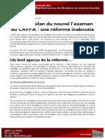 ARES Dossier de presse bilan réforme CRFPA